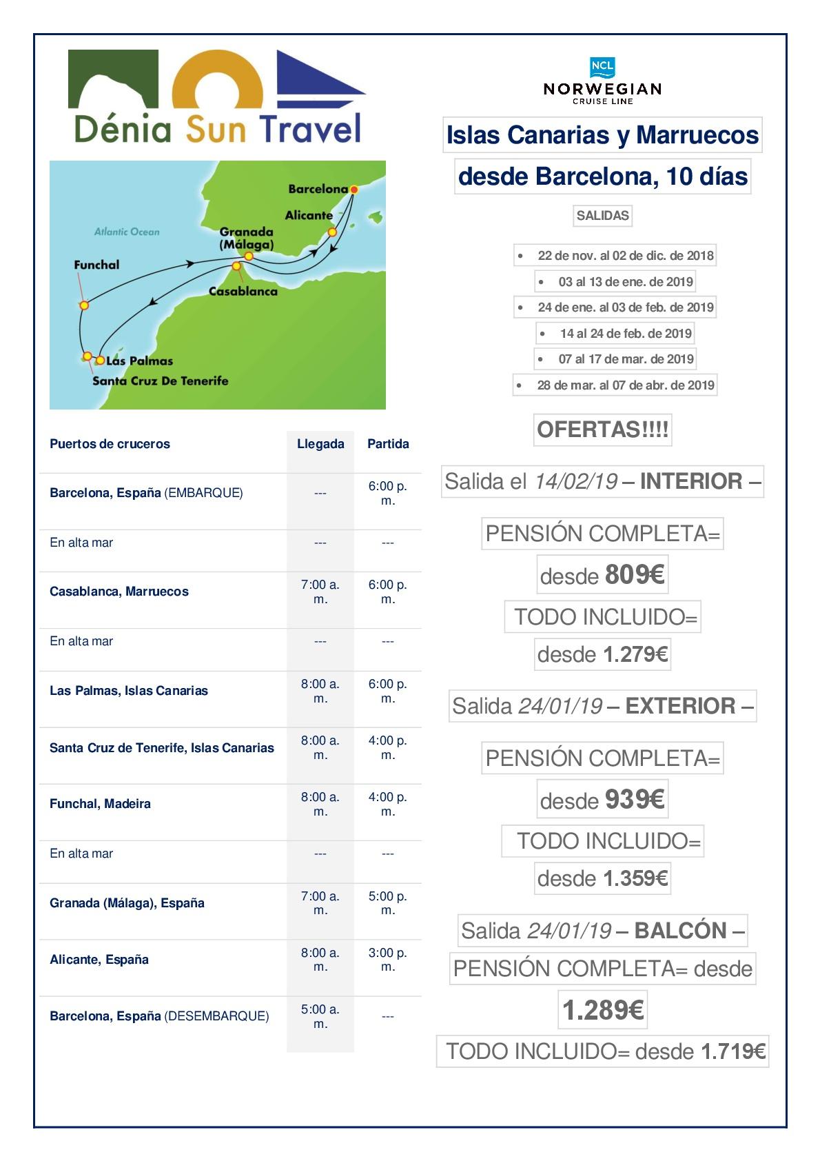 Oferta especial crucero islas canarias maruecos y - Ofertas canarias enero ...