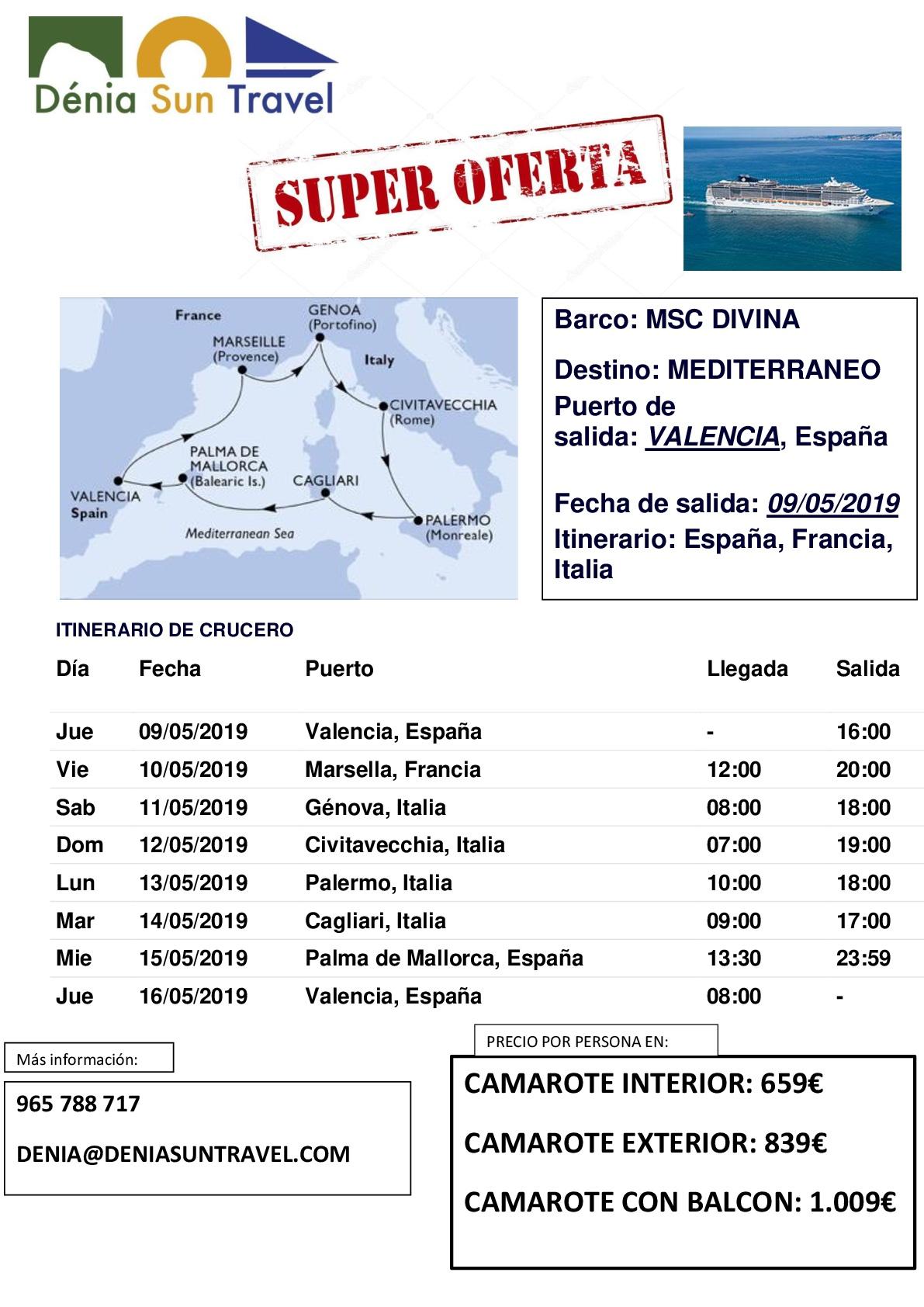 CRUCERO 09-05 MSC DESDE VLC-001