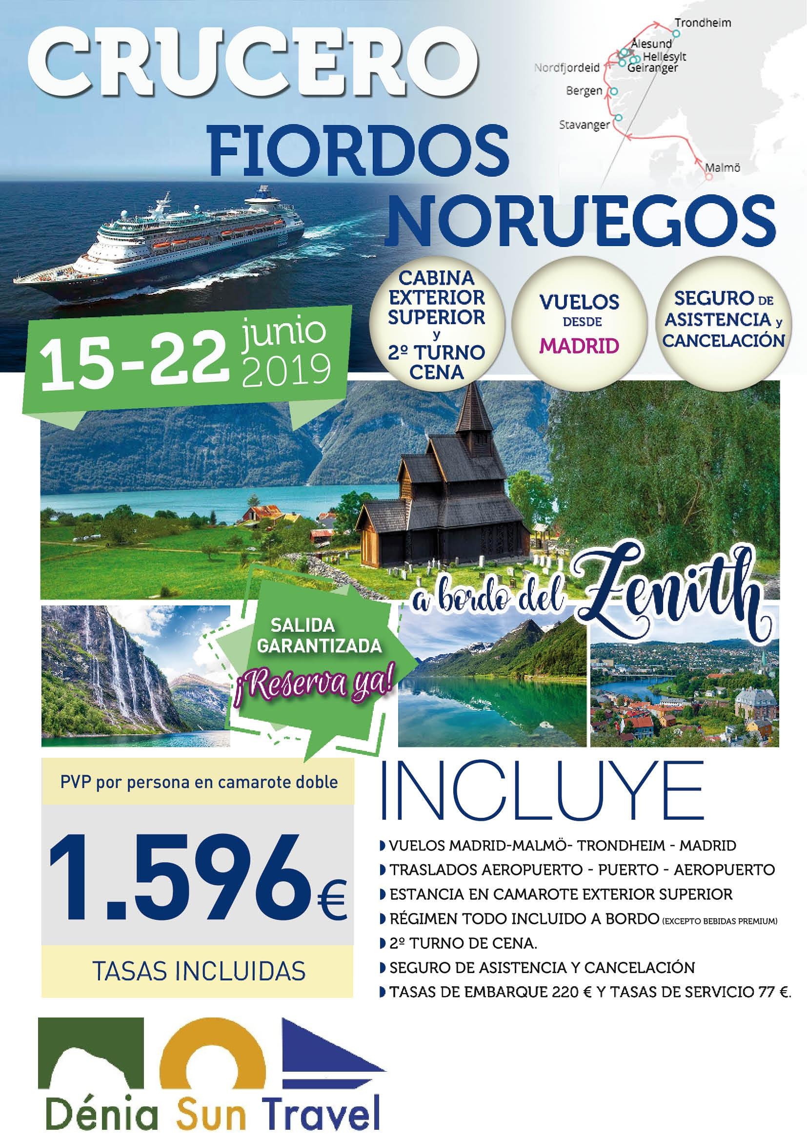 Crucero Fiordos 15 Junio desde MADÑÑ